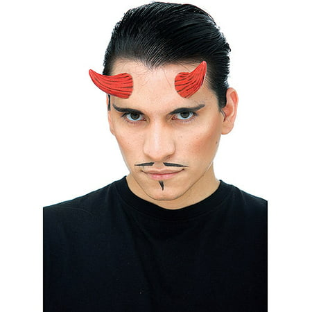 Red Demon Horns Prosthetic Adult Halloween Accessory