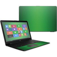 "Skin Decal Wrap for HP 17t Laptop 17.3"" (2017) Lime Carbon Fiber"