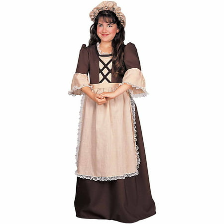 Colonial Girl Child Halloween Costume - Halloween Costumes For Girls 2017