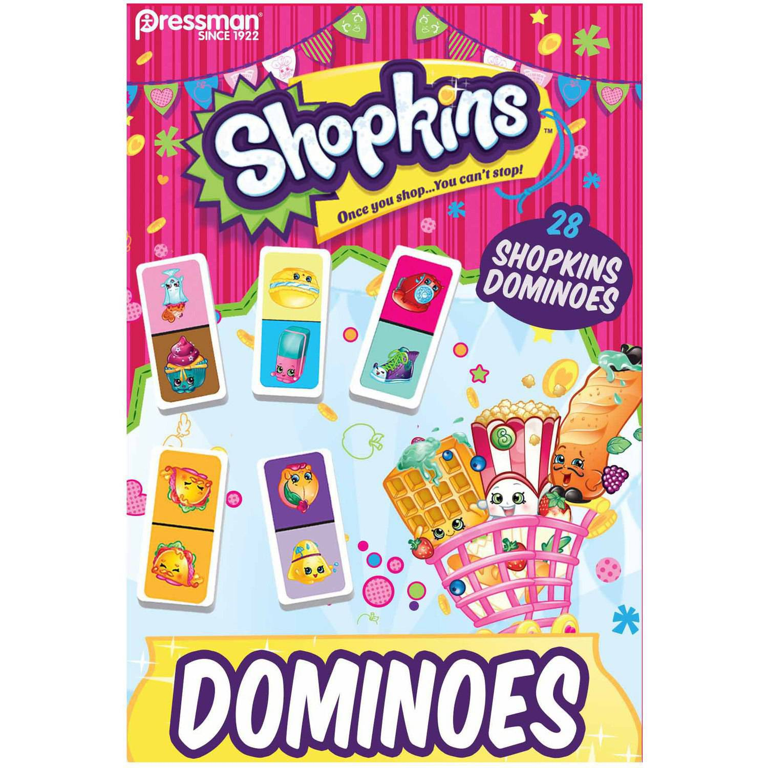 Pressman Toy Shopkins 28 piece Urea Dominoes