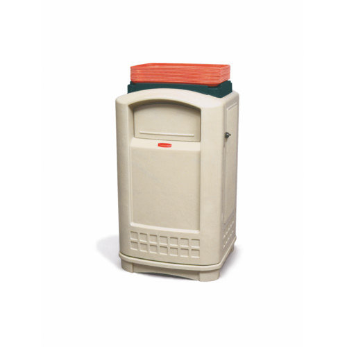 Rubbermaid Commercial Products Plaza  50-Gal Container with Tray Top (Set of 2)