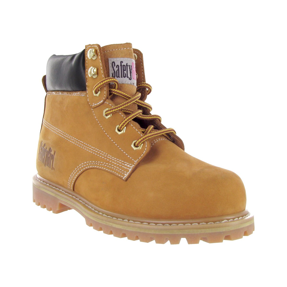 Safety Girl Steel Toe Waterproof Womens Work Boots - Tan - 10.5M ...