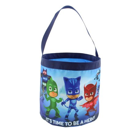 PJ Masks Boys Girls Collapsible Nylon Beach Bucket Toy Storage Gift Tote Bag B19PJ42179