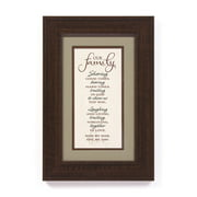 The James Lawrence Company Our Family Framed Textual Art