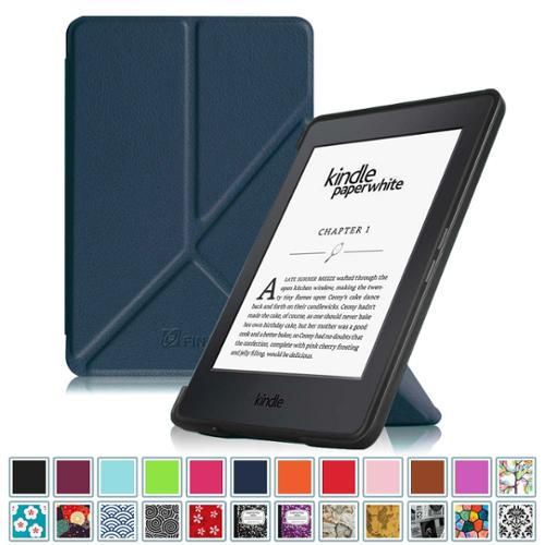Fintie Origami Case for Amazon Kindle Paperwhite - Fits All Paperwhite Generations Prior to 2018, Emerald Illusions