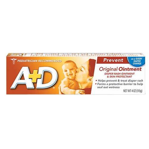 A And D Diaper Rash And Skin Protectant Original Ointment, 4 Oz, 2 Pack