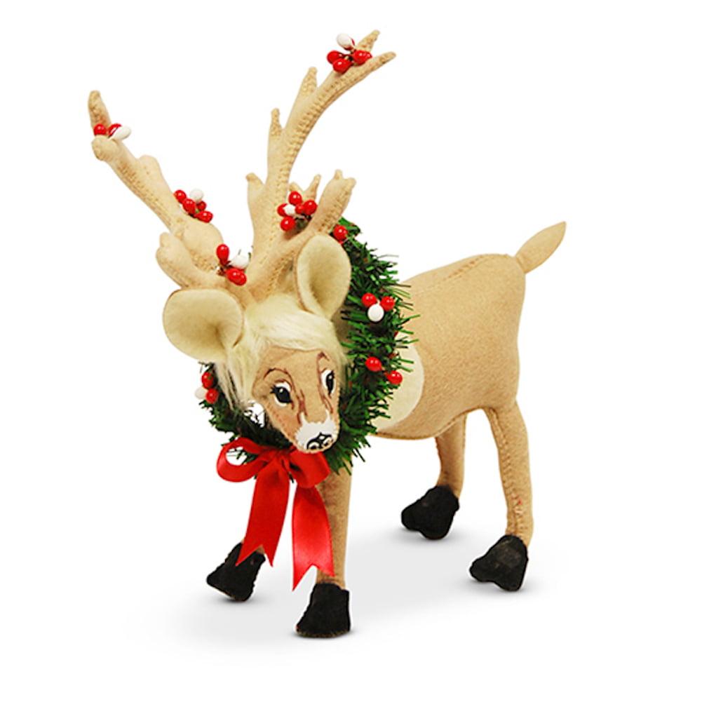 "Annalee - Christmas Wreath Caribou 8"""