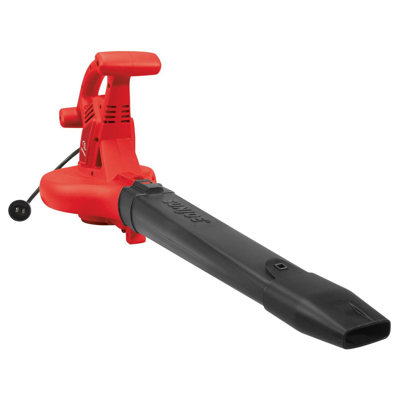 (Open Box) Snow Joe Sun Joe SBJ606E-GA-RED 14 Amp 250MPH 4-in-1 Electric Leaf Blower | Vacuum | Mulcher | Gutter Cleaner, RED