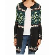 Free People NEW Green Tribal Knit Women Size Medium M Cardigan Sweater $198