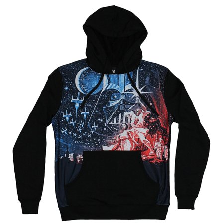 Star Wars Episode IV A New Hope Mens Black Pullover Hoodie Sweatshirt Small All Star Pullover