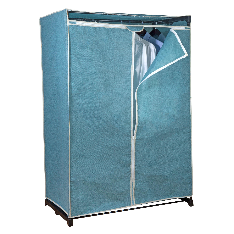 "Simplify 36"" Wide Portable Closet in Dustyblue"