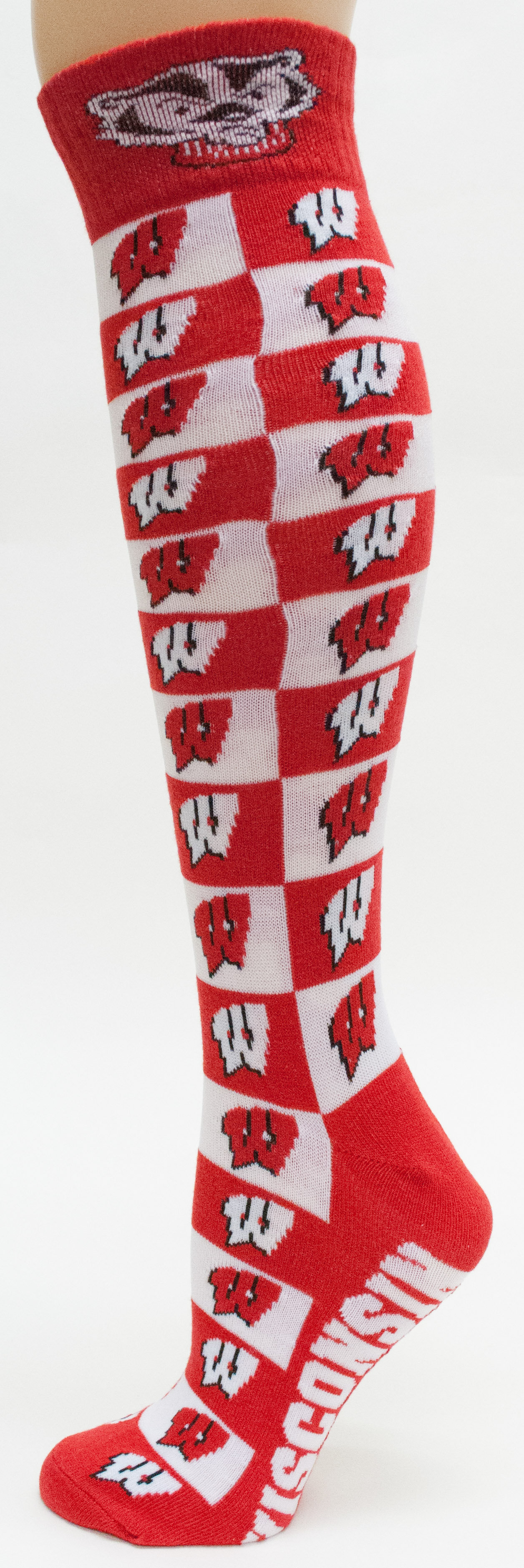 Wisconsin Badgers Checkerboard Dress Sock by Donegal Bay