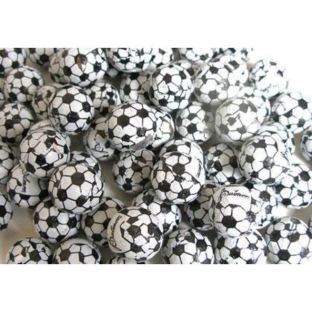 Chocolate Soccer Balls Foil Covered - 3LB Bulk Chocolate (Approx. 225 pieces)