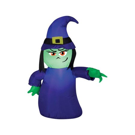 Gemmy Industries Attitude Witch Lighted Halloween Inflatable 42 in. H x 8-7/16 in. W x 7-7/8 in. for $<!---->