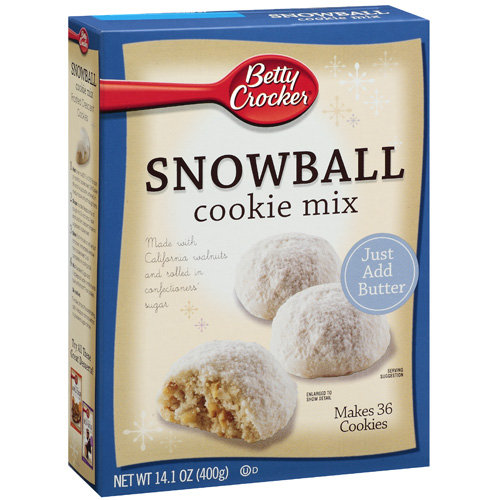 Betty Crocker: Snowball Cookie Mix, 14.1 Oz