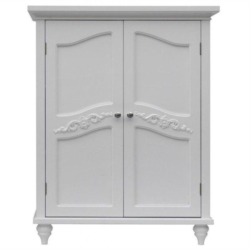 Bowery Hill 2 Door Floor Cabinet in White