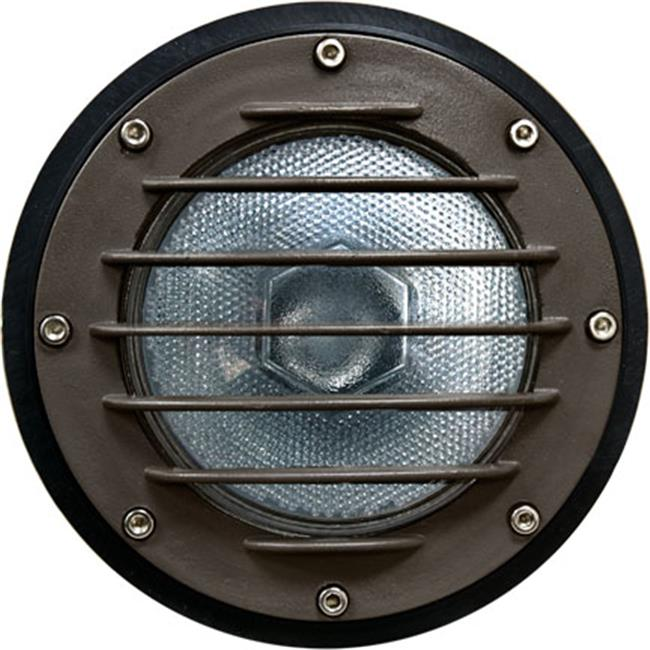 Dabmar Lighting DW4701-BZ Cast Aluminum In-Ground Well Light with Grill and PVC Sleeve, Bronze