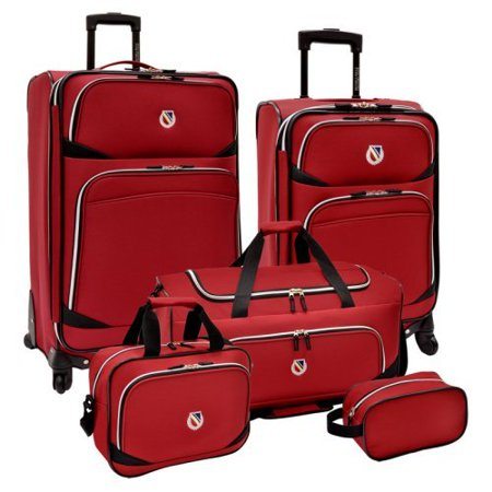 Beverly Hills Country Club St. Vincente 5 Piece Expandable Spinners and Duffel Bag Luggage Set