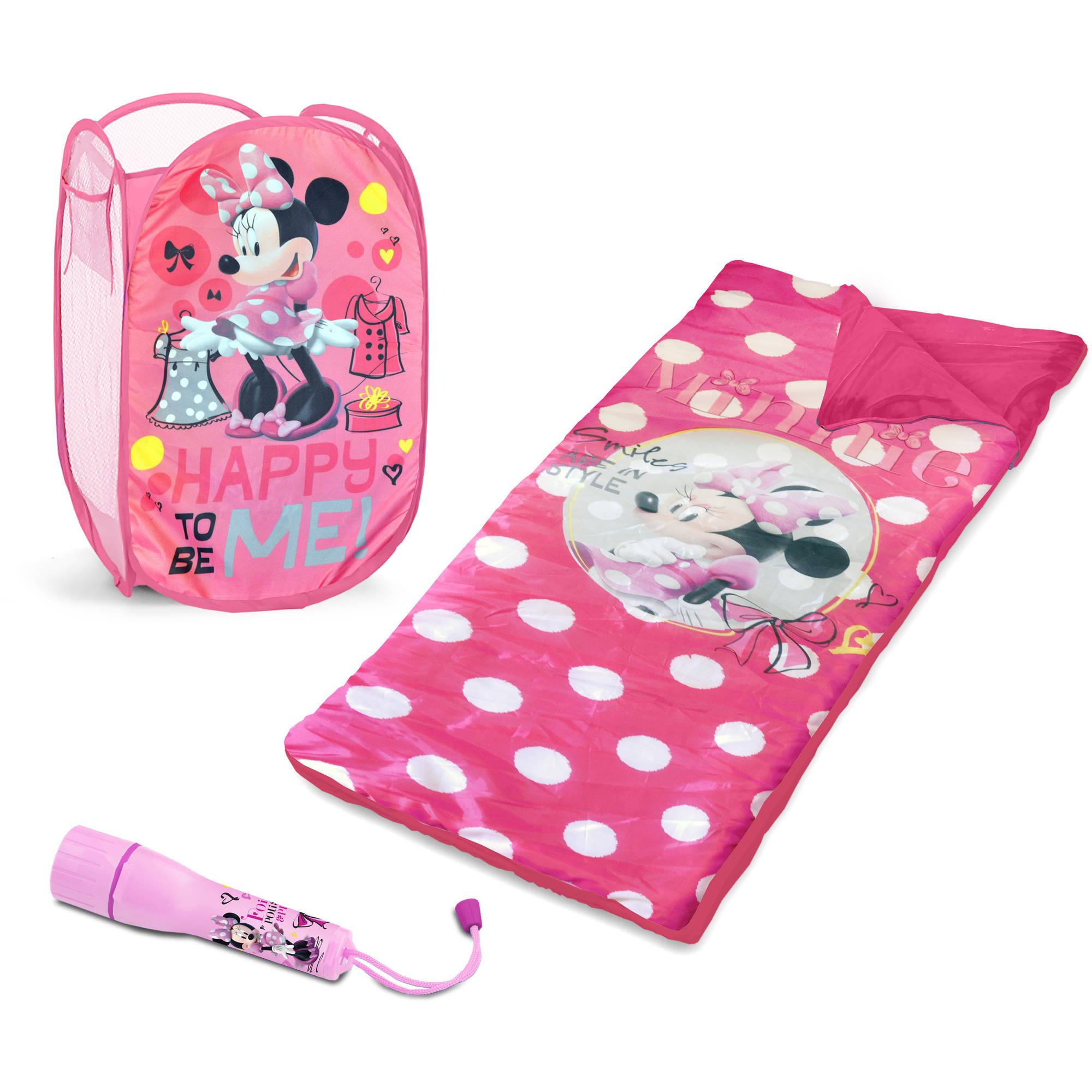 Disney Minnie Mouse Sleepover Set with BONUS Hamper