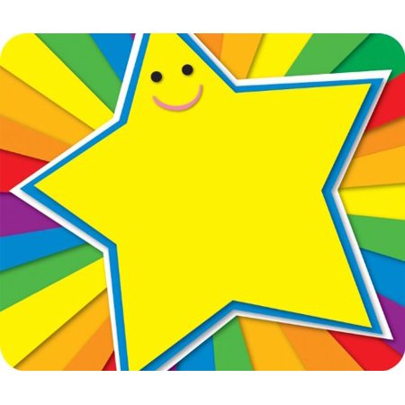 Carson Dellosa Rainbow Star Name Tags (150006), 40 self-adhesive name tags per pack By Carson-Dellosa - Halloween Dr Name Tags