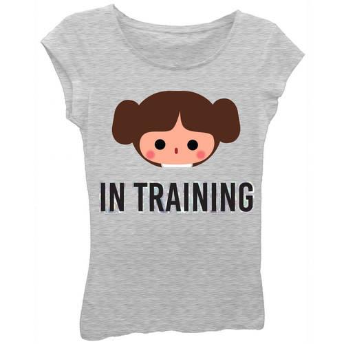 Star Wars Girls' Princess Leia 'In Training' Short Puff Sleeve Graphic T-Shirt