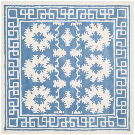 Safavieh Bella 5' Square Hand Tufted Wool Rug in Blue and Ivory - image 1 de 1