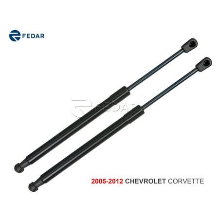 Fedar Front Hood Gas Charged Lift Support For 2005-2012 Chevrolet Corvette (Set of (Corvette Hood Support)
