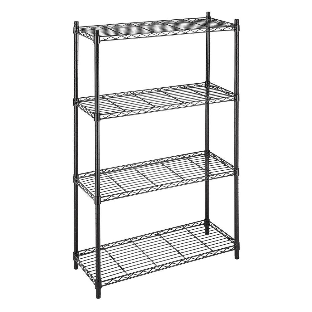 Whitmor Supreme 4-Tier Shelving Black