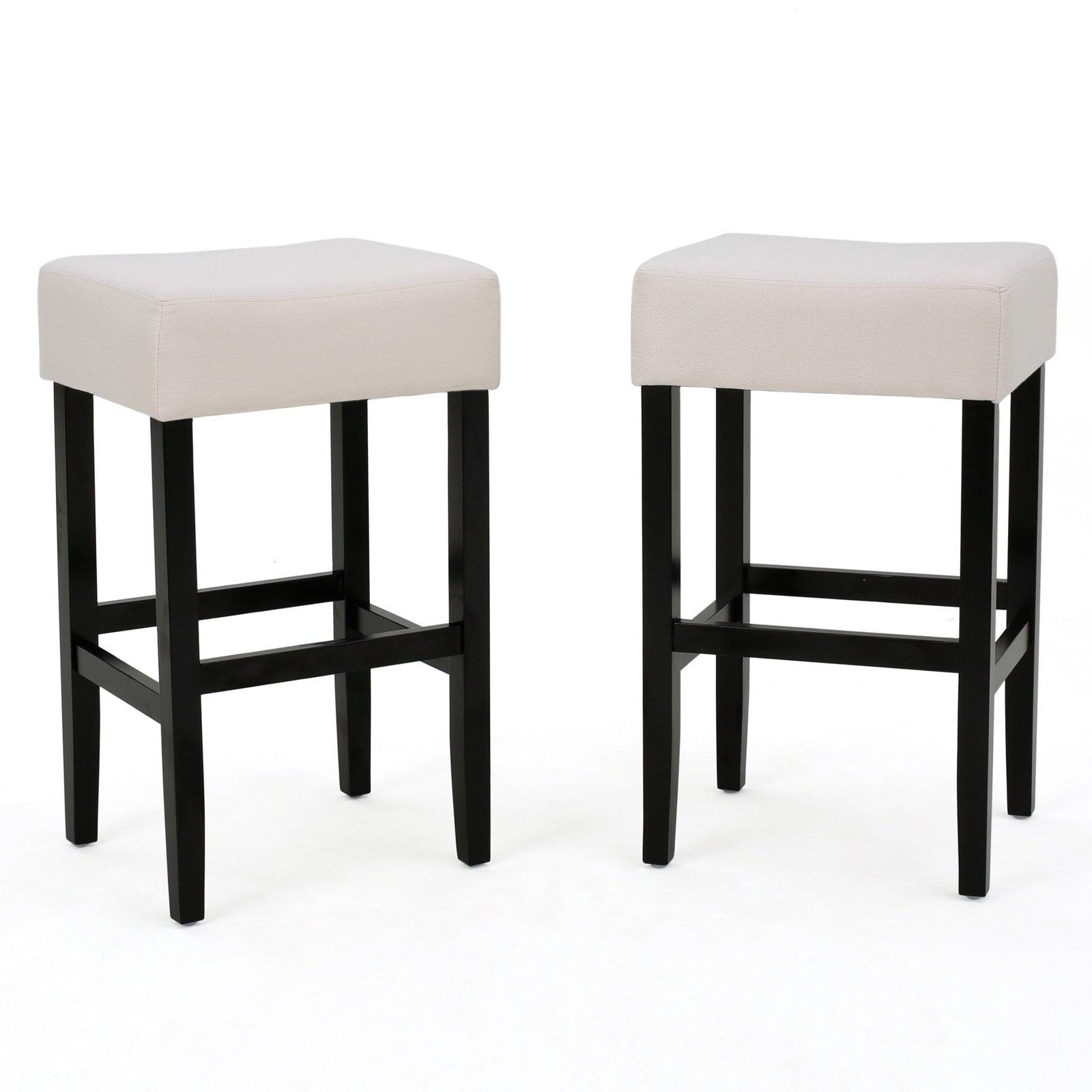 Ligan Upholstered Backless Bar Stool - Set of 2