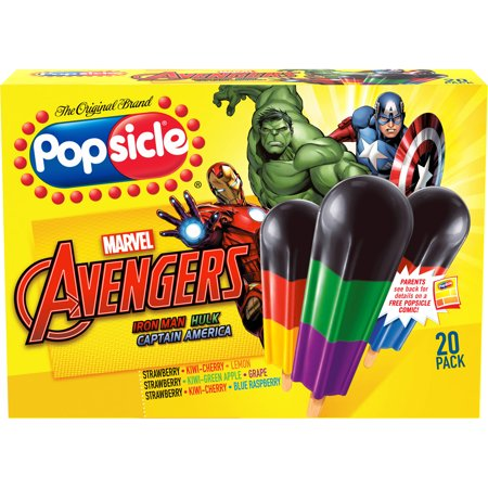 Popsicle marvel avengers assemble assorted ice pops 1 6 for Rocket fishing rod walmart
