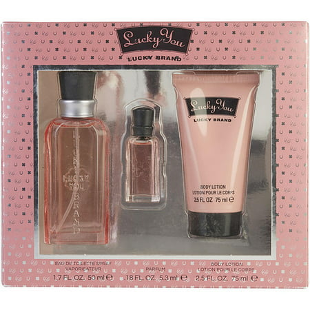 Lucky Brand 18080009 Lucky You By Lucky Brand Edt Spray 1 7 Oz   Body Lotion 2 5 Oz   Parfum  18 Oz Mini