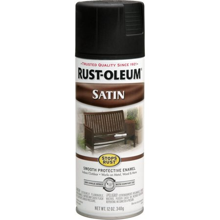 Rust-Oleum Stops Rust Satin Spray Paint - Blacklight Spray