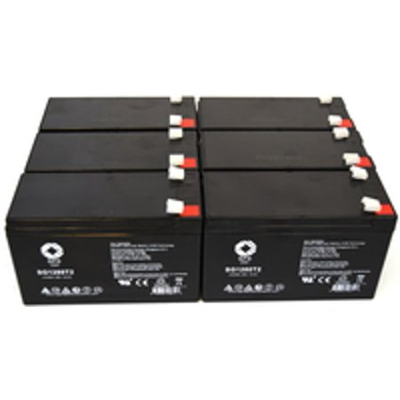 Sps Brand 12V 8 Ah Replacement Battery  For Mge Pulsar Evolution 3000 Ups  6 Pack