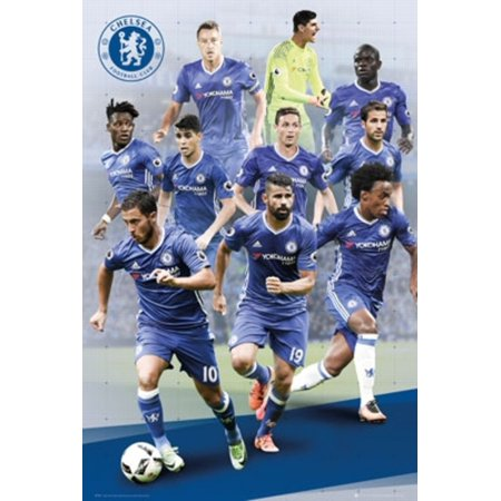Chelsea FC Players 16/17 Soccer Football Sports Poster 24x36 inch