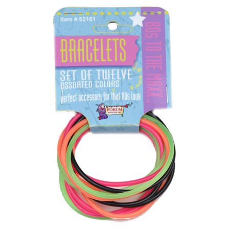 Jelly Bracelets Set of 12 - 80s Jelly Bracelets