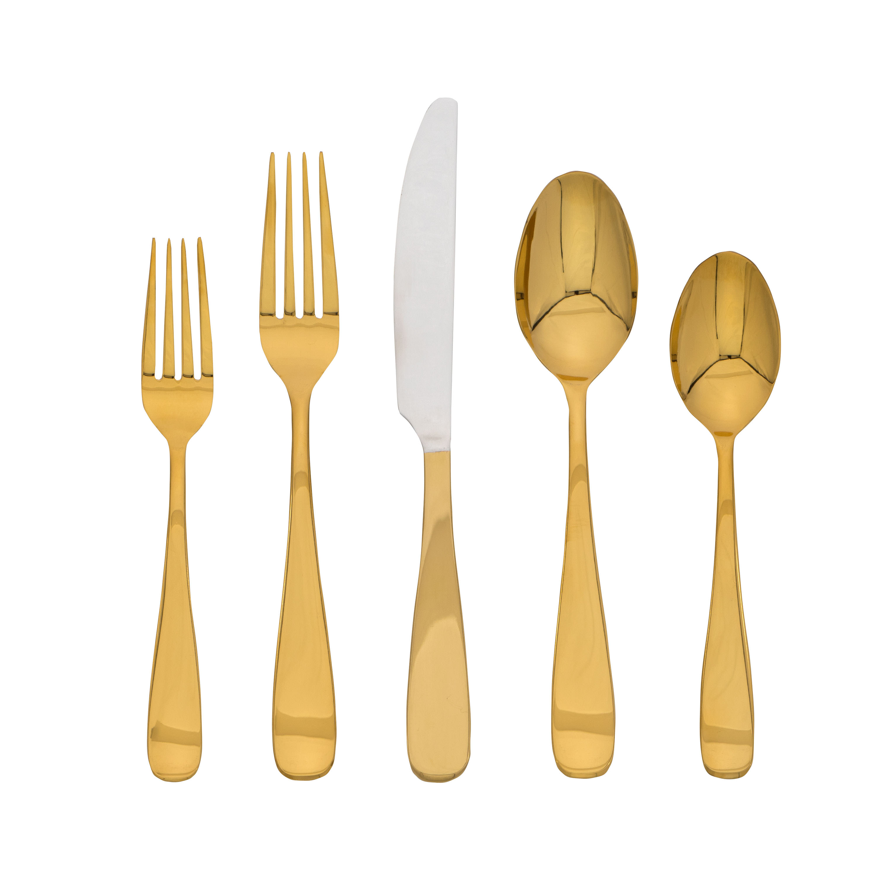 Cambridge Silversmiths Cecelia Copper Mirror 20-Piece Flatware Set, Service for 4