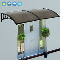 "Zeny 40*80"" Overhead Door Window Outdoor Awning Door Canopy Patio Cover Modern Polycarbonate Rain Snow Protection"