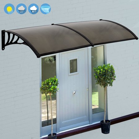 Zeny 80 x 40  Window Awning Outdoor Polycarbonate Front Door Patio Cover Canopy & Zeny 80