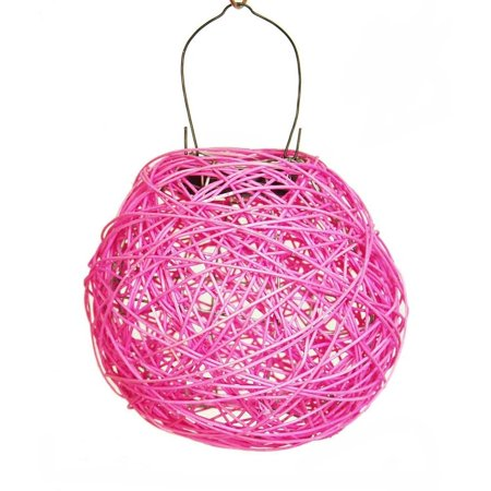Echo Valley 4592 7   Fuschia Nest Rattan Solar Lantern