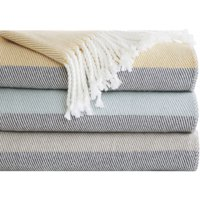 "Home Essence Apartment Zoe Color Block Throw Blanket, 50"" x 60"""