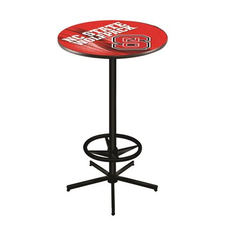 Holland Bar Stool L216B4228NCarSt 42 in. NC State Wolfpack Pub Table with 28 in. Top Nc State Wolfpack Game Table