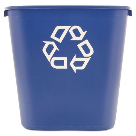 Rubbermaid Deskside Recycling Container (Commercial 28 1/8 Quart Blue Medium Deskside Recycling Container Rubbermaid )