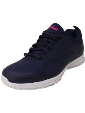 Fila Women's Memory Bouncelight Navy / Pink Glow White Ankle-High Industrial and Construction Shoe - 6M