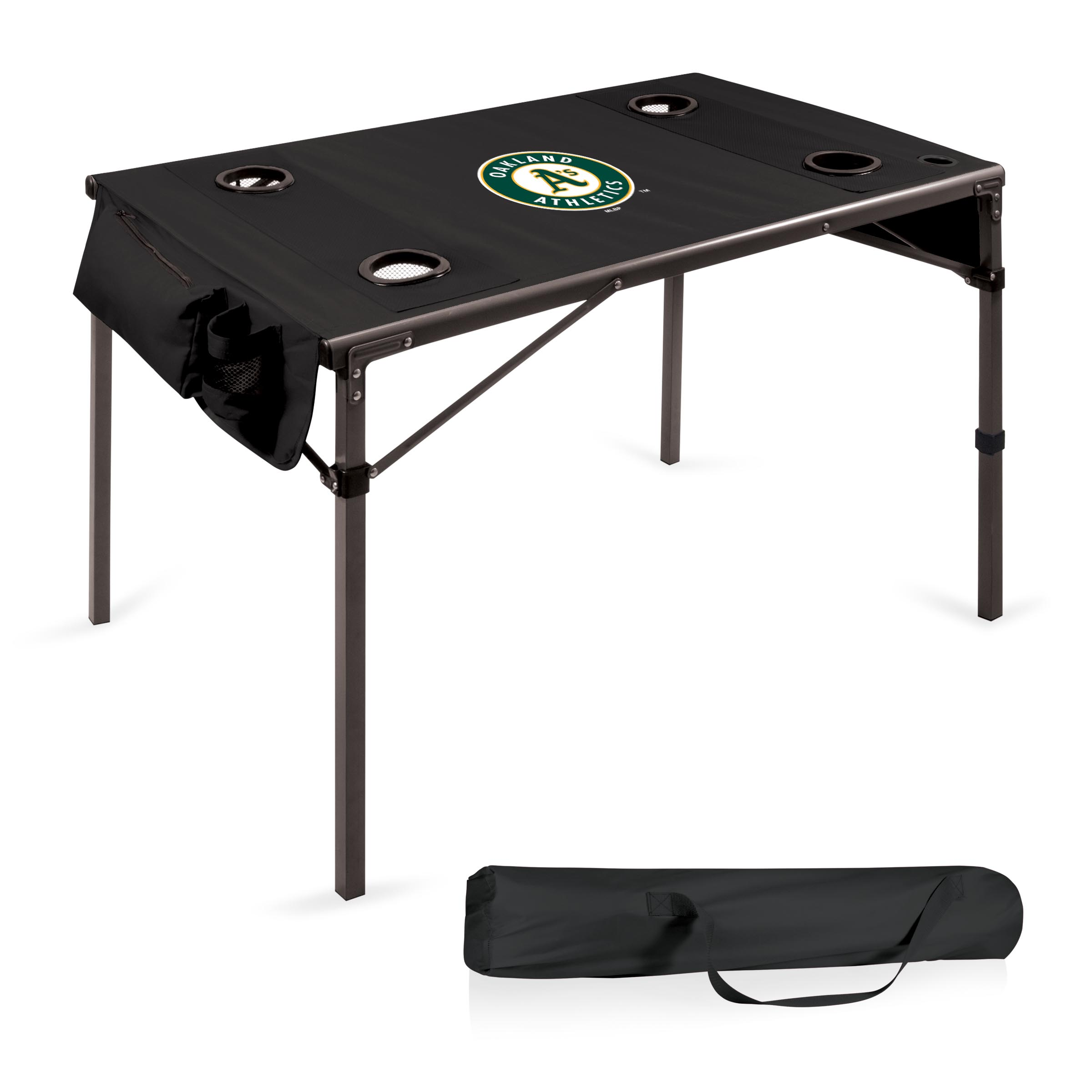 Oakland Athletics Portable Folding Travel Table - Black - No Size