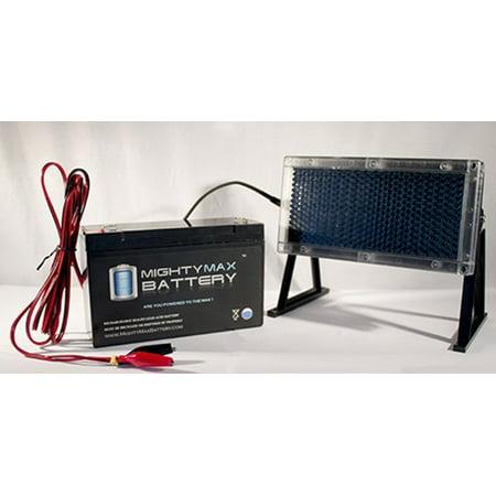 6V 12AH Battery Replaces Zareba Solar Low Impedance + 6V Solar Panel thumbnail