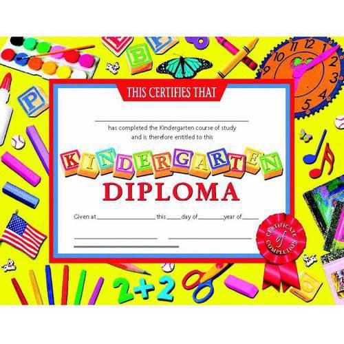 "Hayes Kindergarten Diplomas Certificate, 8.5"" x 11"", Pack of 30"