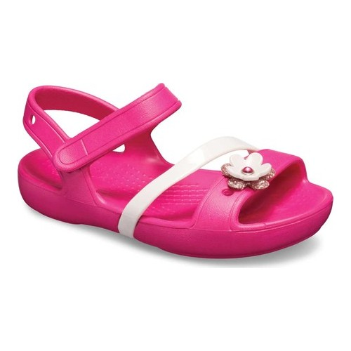 12 11 1 2 PARTY PINK Crocs Girls Lina Sandals Size 10 NEW WITH TAGS