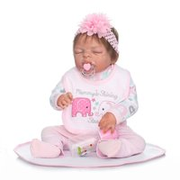 4fe1e137d Product Image Ktaxon Reborn Baby Doll Soft Silicone vinyl 22inch Lovely  Lifelike Cute Baby Boy Girl Toy Pink