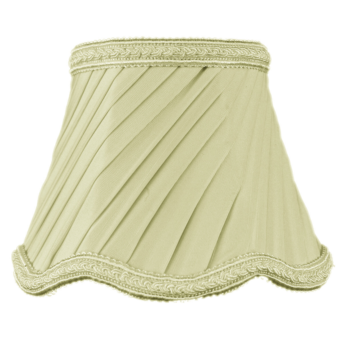 3x5x4 Crisp Linen Pleated Twist Clip-on Candelabra Lampshade by Home Concept