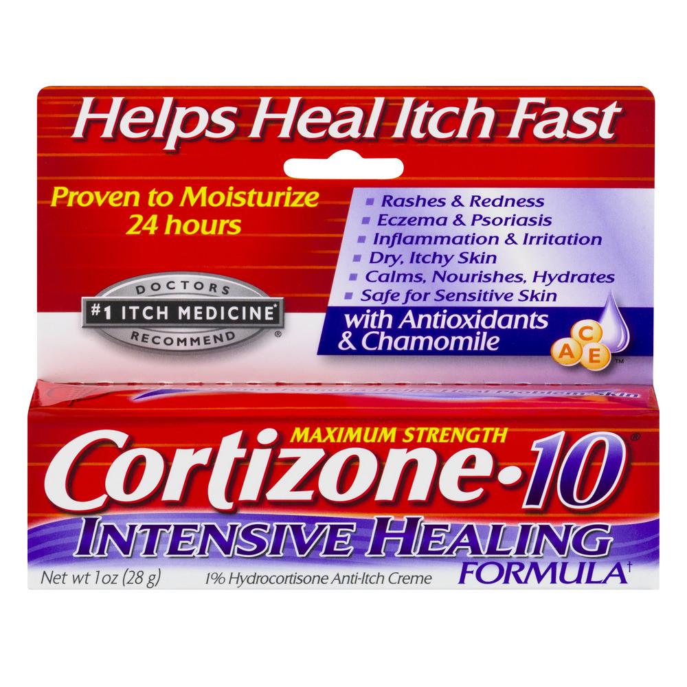 Cortizone 10 Maximum Strength Intensive Healing Formula 1% Hydrocortisone Anti-Itch Crème, 1oz